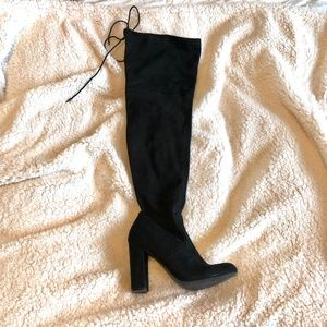 Shoes - Over the Knee Black Boot